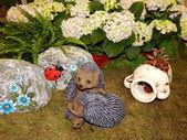 Garden design and sculptures. XX international exhibition FLOWERS-IPM- 2013, Moscow. August, 2013. — Stock Photo