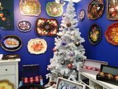 "One of the stands at the exhibition ""Chrisrmas Time - 2013"". Moscow. September, 2013. — Stock Photo"