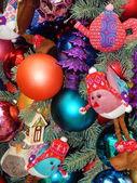 Christmas toys background. — Stock Photo