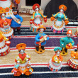 "Bright  Russian clay toys.Exhibition ""New Year Expo 2013"", Moscow. September, 2013. — Foto Stock"