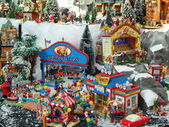 """Toy city. Exhibition """"Gifts"""", Moscow. September, 2013. — Stock Photo"""