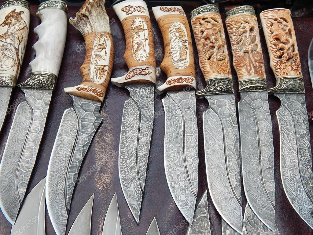 Hunting Knives With Carved Bone Handles Moscow