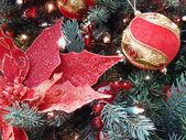 Kerstmis speelgoed achtergrond. — Stockfoto