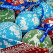 Foto Stock: Christmas toys background. Christmas balls.