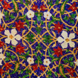 Crafts. Multicolored mosaica with a flower pattern. — Stok fotoğraf