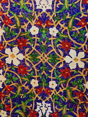 Crafts. Multicolored mosaica with a flower pattern. — Stock Photo