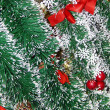 Christmas tinsel background — Stock Photo