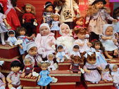 "Handmade collectible dolls. IV Moscow International Exhibition ""Art of Dolls"", Moscow. December, 2013. — Stock Photo"