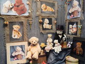 """Crafts. Handmade collectible dolls. IV Moscow International Exhibition """"Art of Dolls"""", Moscow. December, 2013. — Stock Photo"""