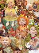 """Collectible dolls. IV Moscow International Exhibition """"Art of Dolls"""", Moscow. December, 2013. — Stock Photo"""