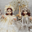 "Collectible handmade dolls. IVth Moscow International Exhibition ""Art of Dolls"". December, 2013. — Stock Photo #37460721"