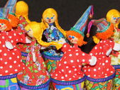 Folk crafts. Dolls. — Foto de Stock
