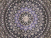 Crafts. Central part of an old carpet with an oriental pattern. Background. — Stockfoto