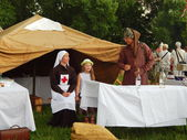 "The fourth international historical festival ""Times and epochs 1914-2014"", Kolomenskoye, Moscow. June 7th, 2014. — Stock Photo"