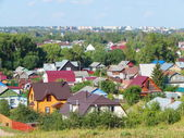A view from the hill at Pereyaslavl-Zalessky, Russia. August, 2014. — Stock Photo