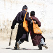 Tibet going to school — Stock Photo