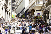 Hundreds of People walk along the 25 March area in Sao Paulo, Brazil. — Stock Photo