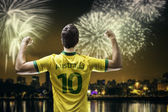 Australia fan celebrates the victory after the match — Foto de Stock