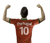Portuguese soccer player celebrates — Photo