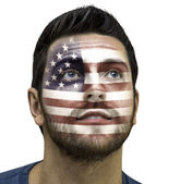Man painted with usa flag — Photo