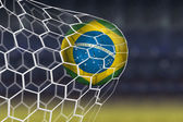 Amazing Brazilian Goal — Stock Photo