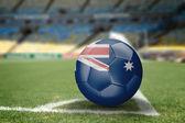 Australien fotboll på fotbollsplanen — Stockfoto
