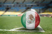 Mexico soccer ball on the soccer field — Stock Photo