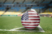 USA soccer ball on the soccer field — Stock Photo