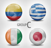 Group C - Colombia, Greece, Ivory Coast, Japan (Brazil) — Stock Photo