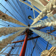 Stock Photo: Ropes, masts