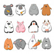 Animals — Vector de stock #12417227