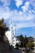 Mosque on cloudscape — Stock Photo