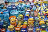 Dishware on the market — Stock Photo