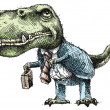 Stock Photo: Business Dinosaur
