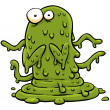 Stock Photo: Green Slime Monster
