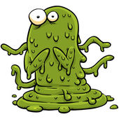 Green Slime Monster — Stock Photo