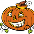 Stock Photo: Cartoon Pumpkin