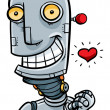 Royalty-Free Stock Photo: Cartoon Robot in Love