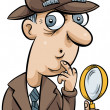 Cartoon Detective — Stock Photo