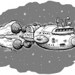 Cartoon Spaceship - Lizenzfreies Foto