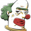Grumpy Clown — Stock Photo