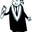 Cartoon Graduate — Stock Photo