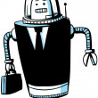 Business Robot - Stock Photo