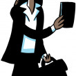 Cartoon Businesswoman — Stock Photo