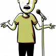 Cartoon Comedian — Stock Photo