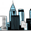 Cartoon Atlanta — Stock Photo
