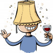 Lampshade Drunk — Stock Photo