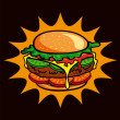 Hamburger — Stock Vector #13639014