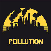 Pollution,nuclear power,destruction,ozone,danger,industrialist,industry,zone,factory, smoke,polluted,air,oxygen,gas toxin,toxic,poison,carbon, evil,human being, extermination,extinction,nuclear power — Stock Vector