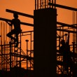 Stock Photo: Construction site silhouette